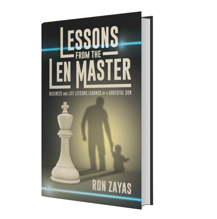 cover of Lessons from teh Len Master book by Ron Zayas